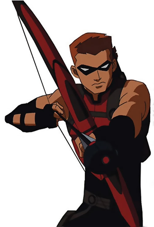 Red Arrow (Young Justice ally) (animated TV series) drawing a trick arrow