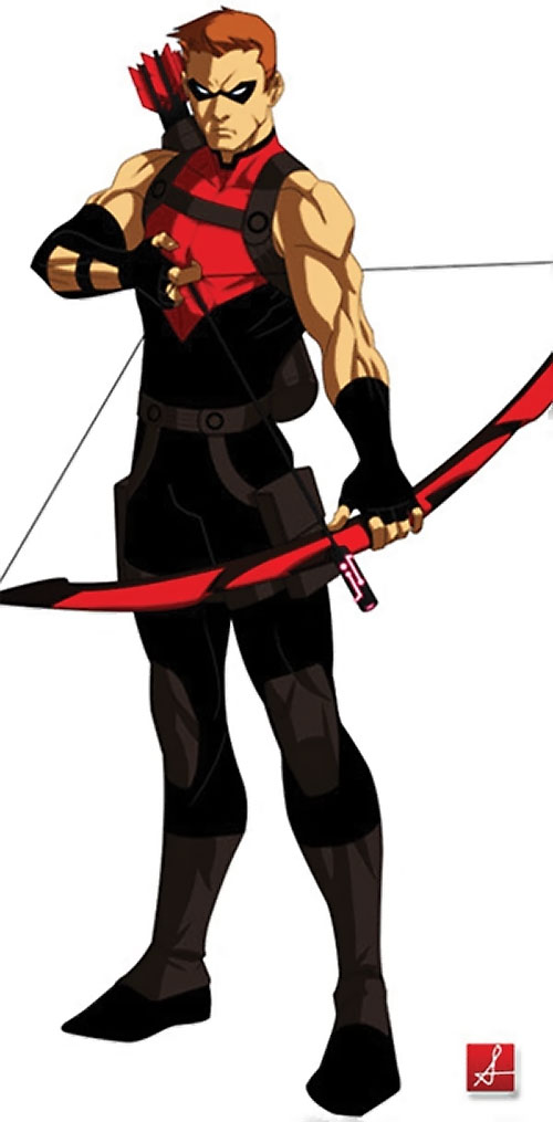 Red Arrow (Young Justice ally) (animated TV series) by sean-izaakse