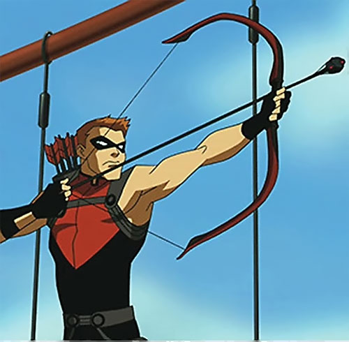 Red Arrow (Young Justice ally) (animated TV series) drawing hard