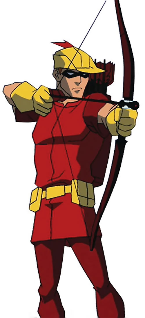 Speedy of Young Justice (animated TV series) aiming his bow