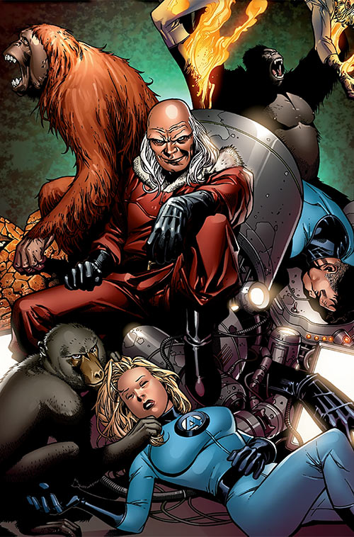 Red Ghost (Marvel Comics) with his apes and the Invisible Woman