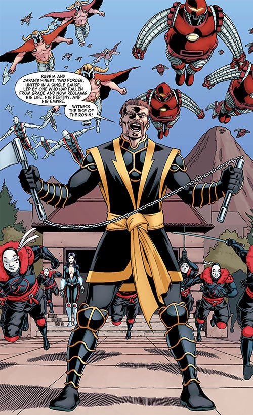 Red Guardian (Shostakov) (Black Widow enemy) (Marvel Comics) as Ronin with his army