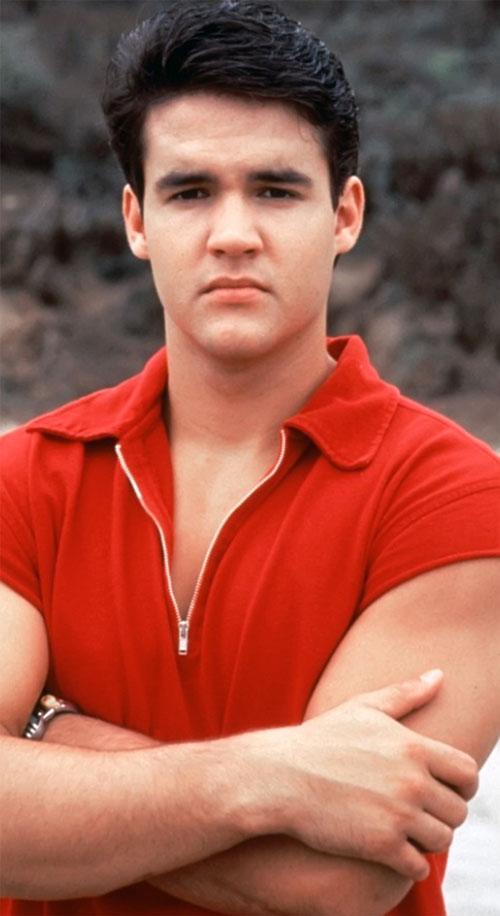 Red Ranger (Jason) of the Mighty Morphin Power Rangers - Jason (Austin St. John) red shirt