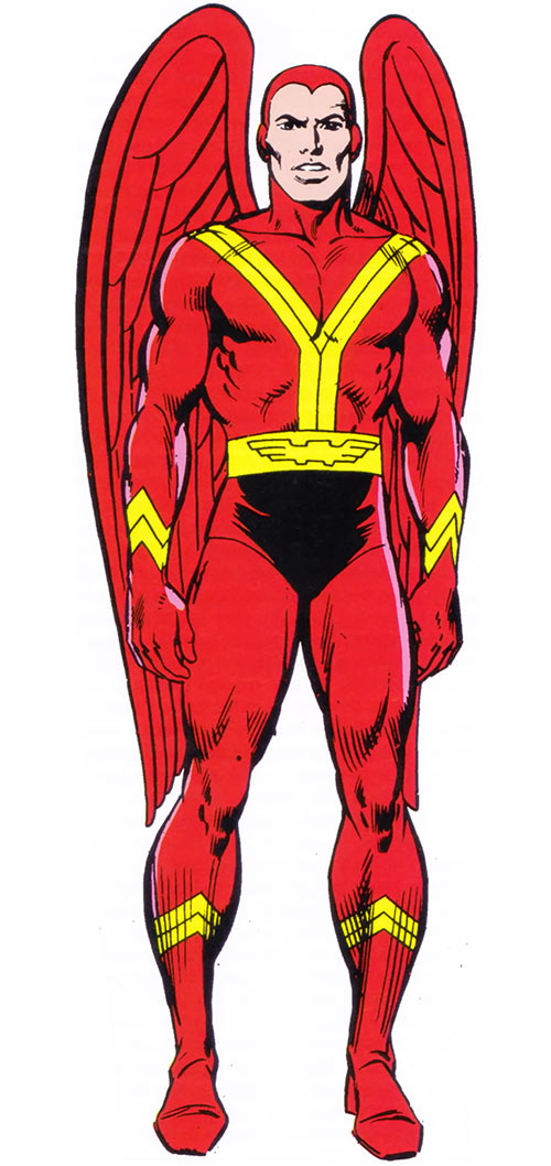 Red Raven avian (1983 Marvel Comics handbook)