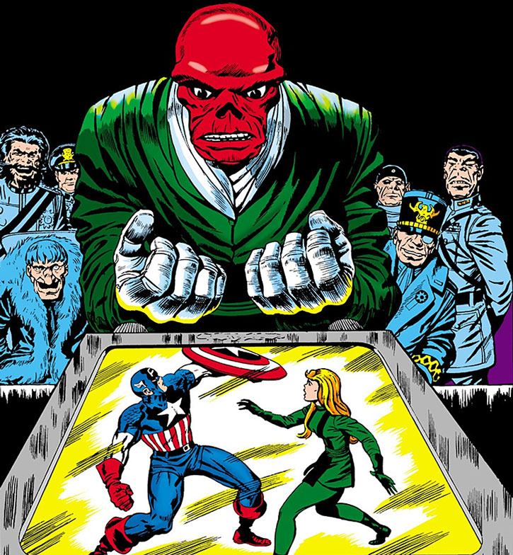 The Red Skull and the Exiles spy on Captain America and Sharon Carter