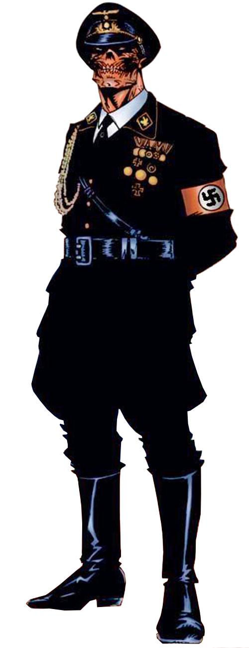 Red Skull (Captain America enemy) (Marvel Comics) black Nazi uniform SS