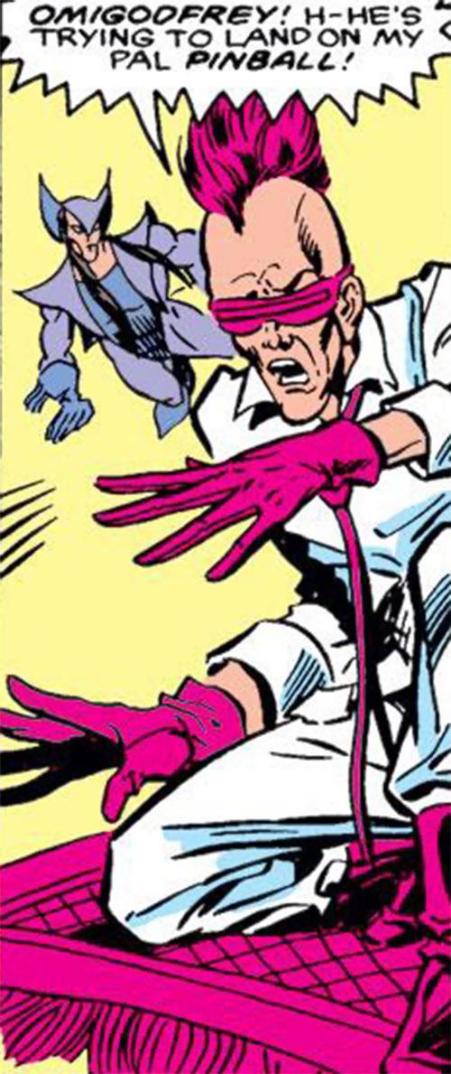Remnant (Squadron Supreme enemy) (Marvel Comics) on a flying carpet