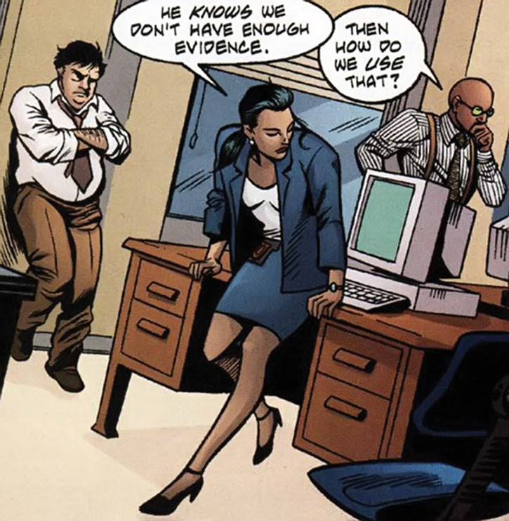 Renee Montoya with Harvey Bullock and Crispus Allen