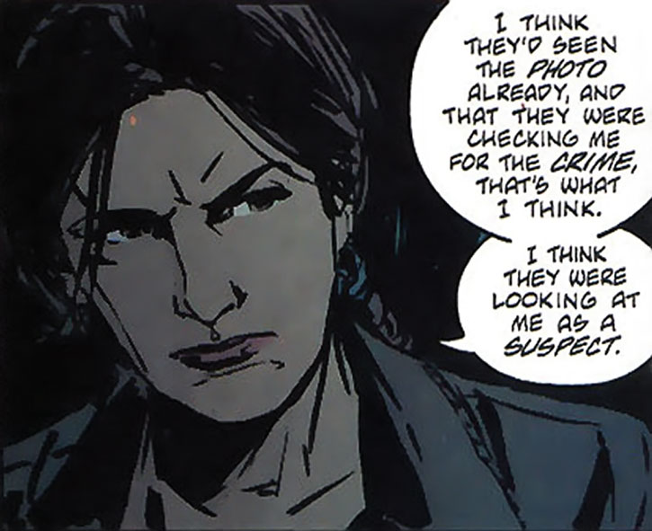 Renee Montoya looking grim