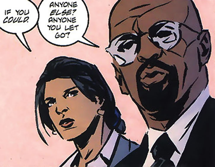 Renee Montoya and Crispus Allen working