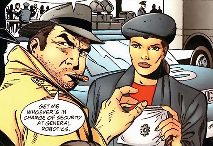 Renee Montoya and Harvey Bullock processing a clue
