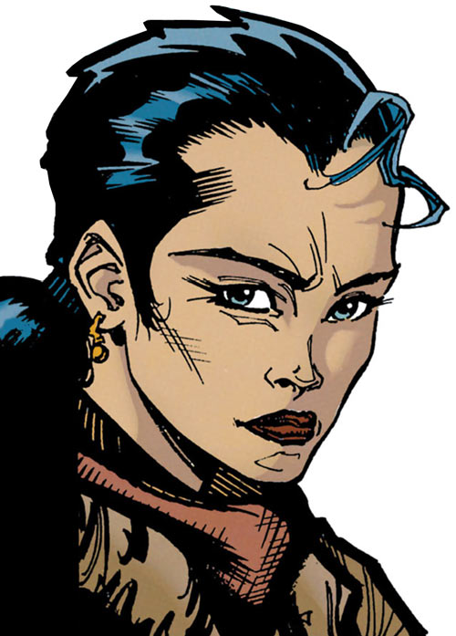 Renee Montoya - early (Batman ally) (DC Comics) face closeup