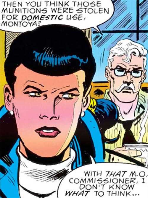 Renee Montoya - early (Batman ally) (DC Comics) face closeup by Aparo