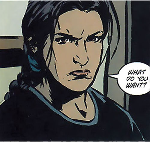 Renee Montoya (Gotham Central and 52 eras) (DC Comics) hostile expression