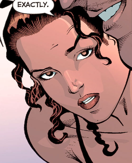 Renee Montoya (Gotham Central and 52 eras) (DC Comics) WTF face closeup