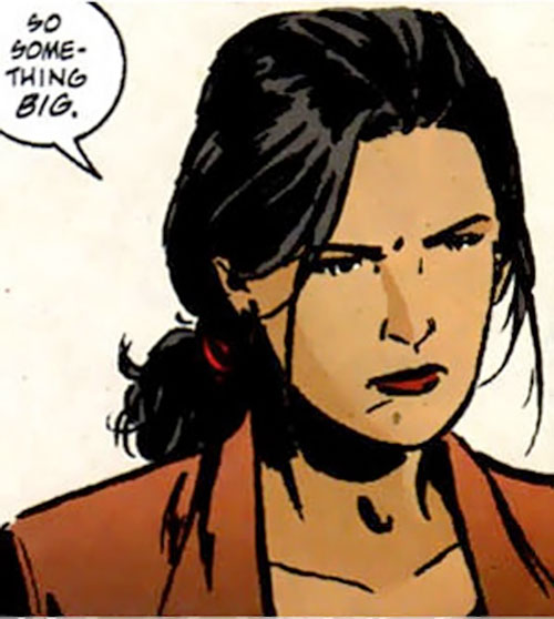 Renee Montoya (Batman ally) (DC Comics) during the early 2000s - pondering