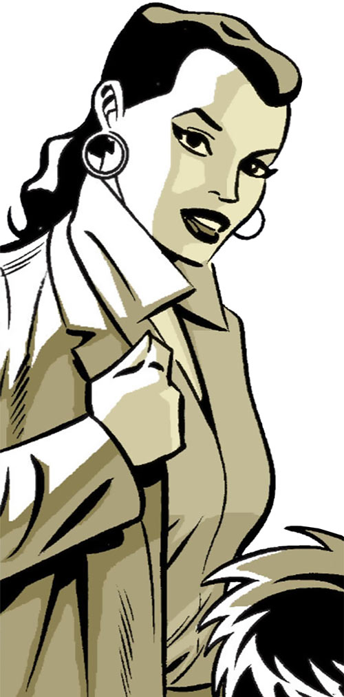 Renee Montoya (Batman ally) (DC Comics) during the early 2000s - putting on her vest
