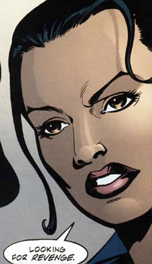 Renee Montoya (Batman ally) (DC Comics) during the early 2000s - face closeup, talking