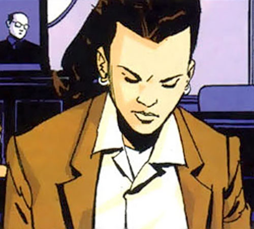 Renee Montoya (Batman ally) (DC Comics) during the early 2000s - sad and pensive