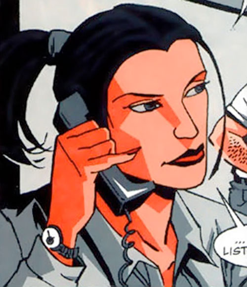 Renee Montoya (Batman ally) (DC Comics) during the early 2000s - on the phone