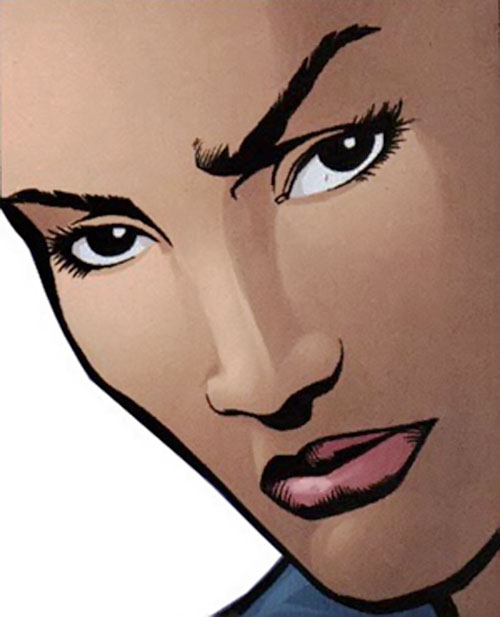 Renee Montoya (Batman ally) (DC Comics) during the early 2000s - soft face closeup