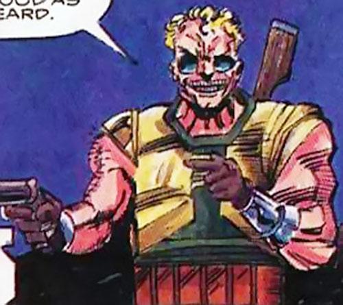Reprise (Hardware enemy) (Milestone comics) with his shotguns