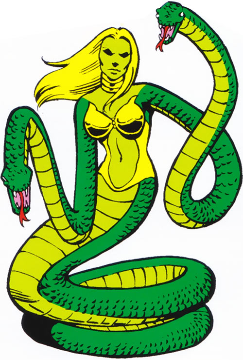 Reptilia of the Salem Seven (Marvel Comics) classic appearance