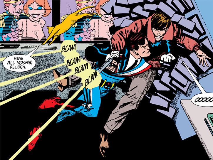 Reuben Flagg fighting a gunman