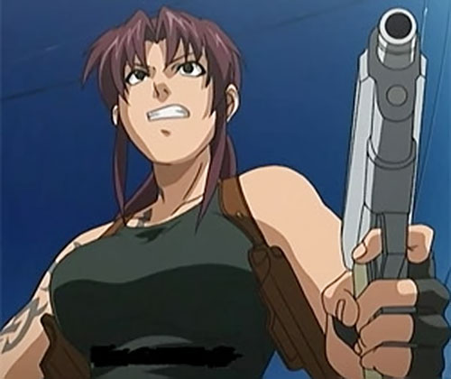 Revy of Black Lagoon pointing her pistol