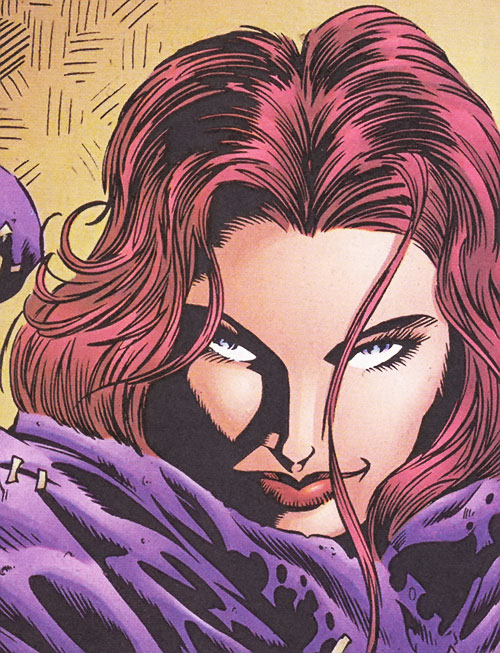 Rhiannon (Ultraverse Marvel comics) (Night Man character) face closeup