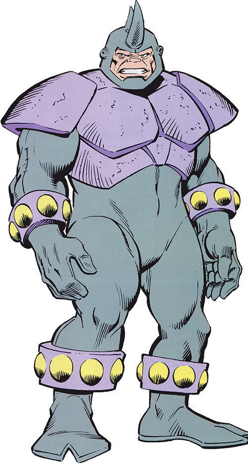 Rhino (Marvel Comics) with the armor-plated costume