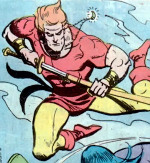 Richard Dragon (DC Comics) leaping and drawing a sword