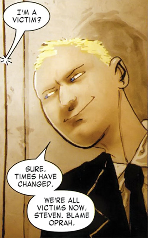 Detective Richard Fell (Warren Ellis Fell comics) smiling