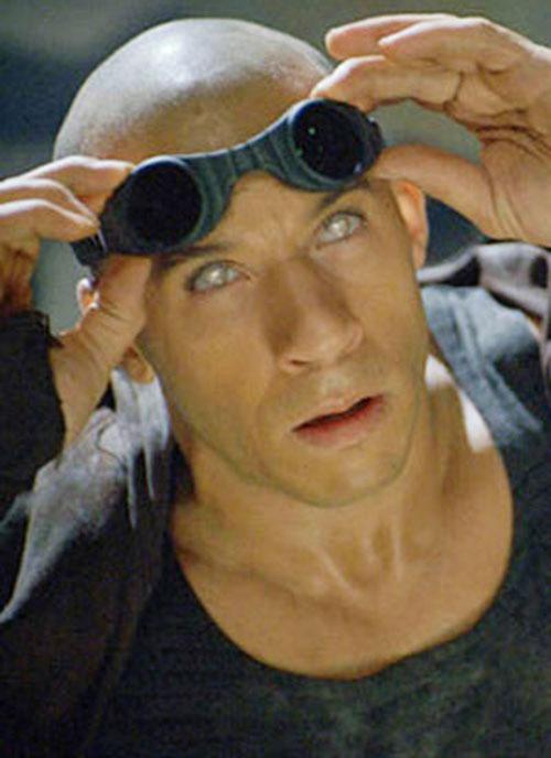 Riddick (Vin Diesel)'s silver eyes