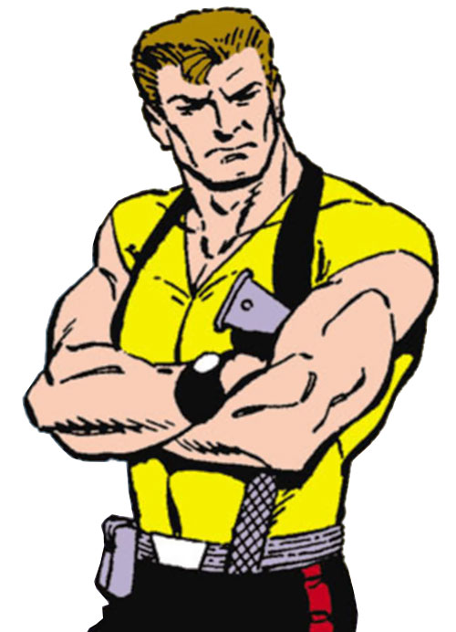 Rick Flag of the Suicide Squad (post-Crisis DC Comics) with arms crossed