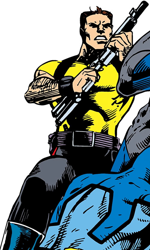 Rick Flag of the Suicide Squad (post-Crisis DC Comics) and Blue Beetle