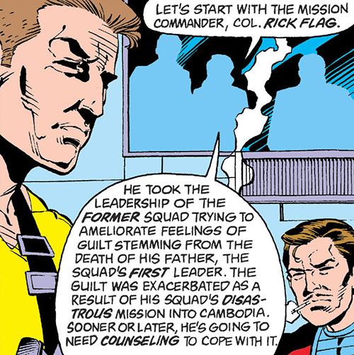 Rick Flag of the Suicide Squad (post-Crisis DC Comics) psych evaluation