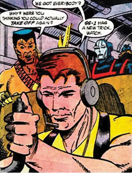 Rick Flag of the Suicide Squad (post-Crisis DC Comics) piloting