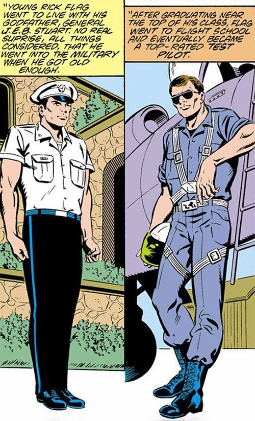 Rick Flag of the Suicide Squad (post-Crisis DC Comics) as a young pilot