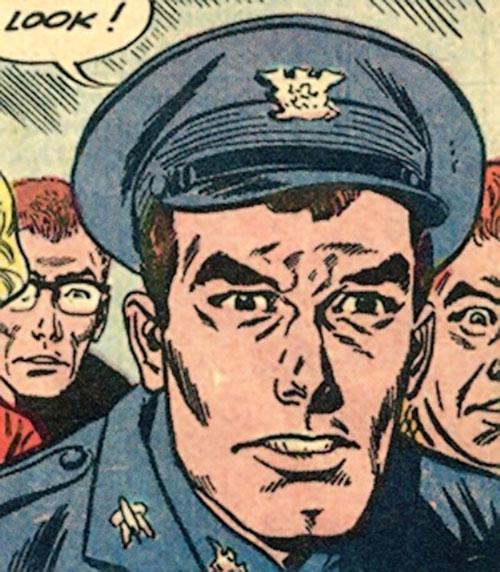Rick Flag of the Suicide Squad (Pre-Crisis DC Comics) shocked face closeup