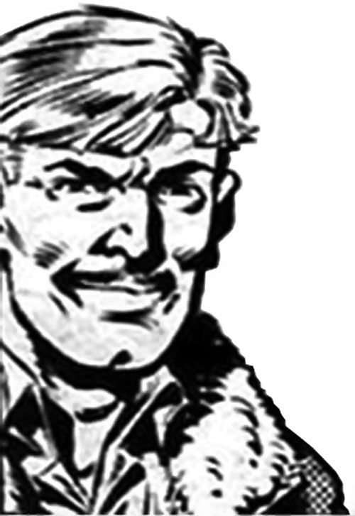 Rick Flag Sr. (Suicide Squad of World War 2) (DC Comics) (War that Time Forgot) B&W portrait