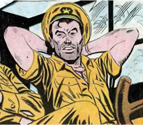 Rick Flag Sr. (Suicide Squad of World War 2) (DC Comics) (War that Time Forgot) relaxing