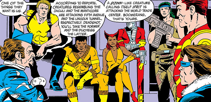 Rick Flag, Jr. and the Suicide Squad about to intervene in Manhattan