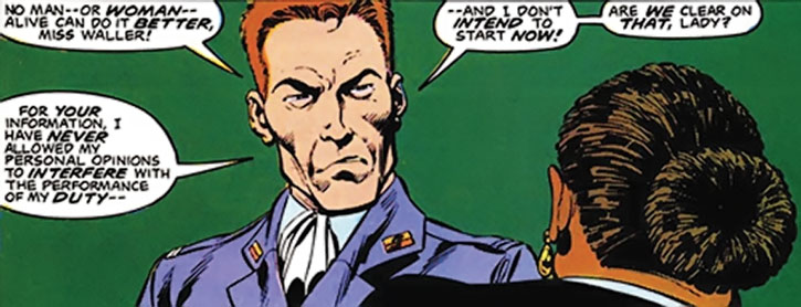 Rick Flag, Jr. is recruited by Amanda Waller