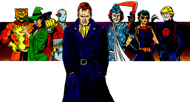 Rick Flag, Jr. with a long coat and the early Suicide Squad