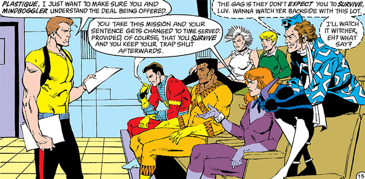 Rick Flag, Jr. briefs the Suicide Squad
