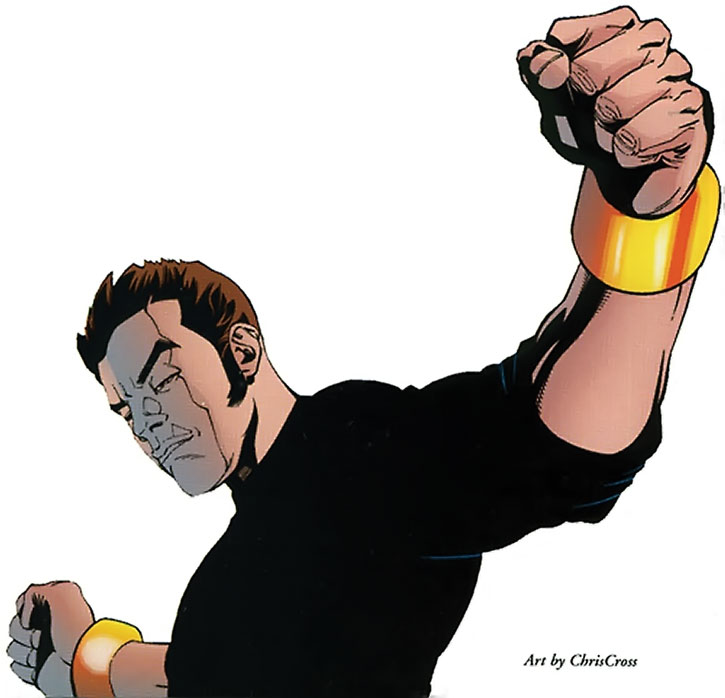 Rick Jones with the nega-bands, over a white background, by ChrisCross
