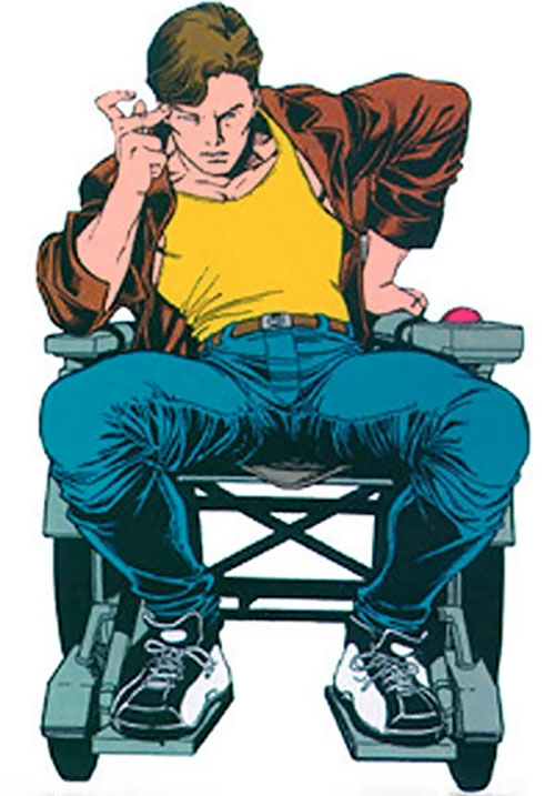 Rick Jones (Marvel Comics) in a wheelchair