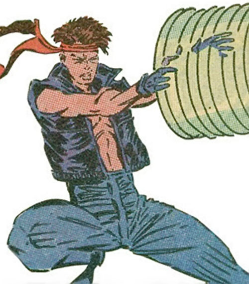 Rictor of X-Force (Marvel Comics) with the black leather vest