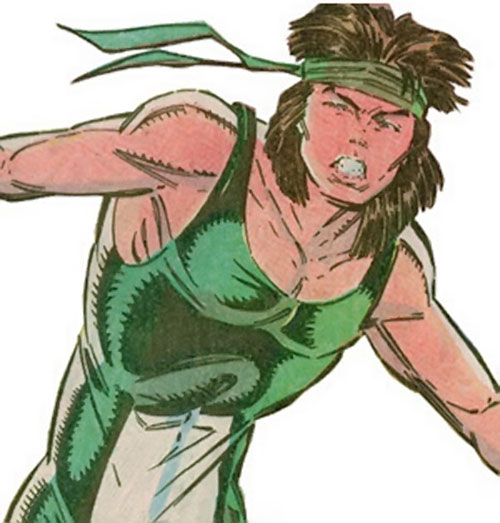 Rictor of X-Force (Marvel Comics) in the green and white costume